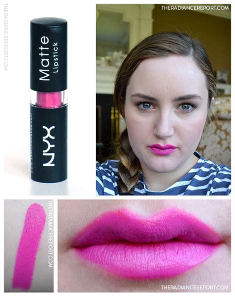 Lipstick Nyx Pink Matte daily swatch nyx shocking pink matte lipstick the
