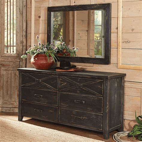 X Dresser by Barnwood X Dresser And Mirror