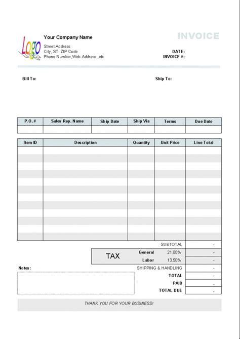 sole trader invoice template nz invoice