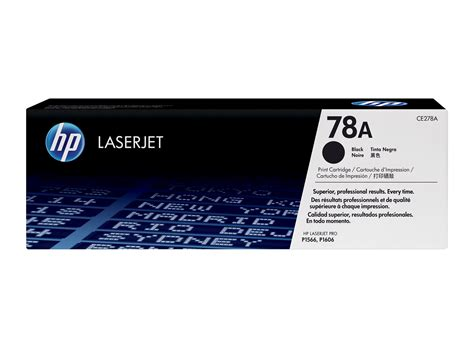 Toner Hp 78a Ce278a hp 78a black original laserjet toner cartridge hp store uk