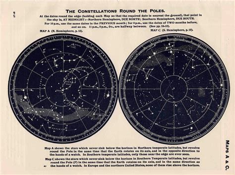 printable star map by date 1963 constellations star map original vintage celestial print