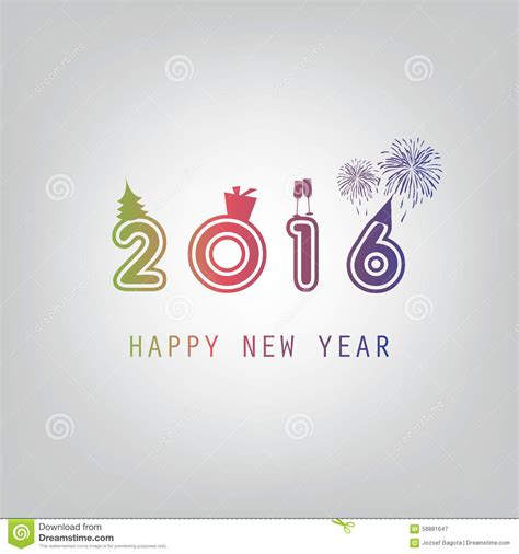 best new year card design best wishes modern simple minimal happy new year card or