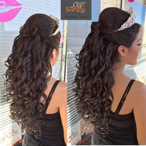 curly hairstyles quinceanera 20 absolutely stunning quinceanera hairstyles with crown