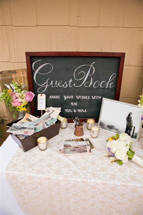 25  best ideas about Wedding guestbook table on Pinterest
