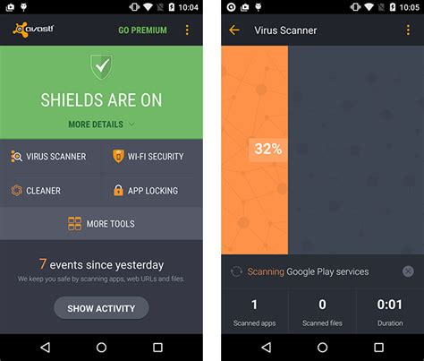 mobile security products test avast mobile security 4 0 for android 151904 av test