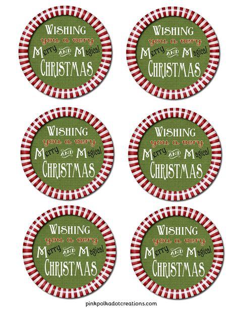 m m s christmas gift label pink polka dot creations