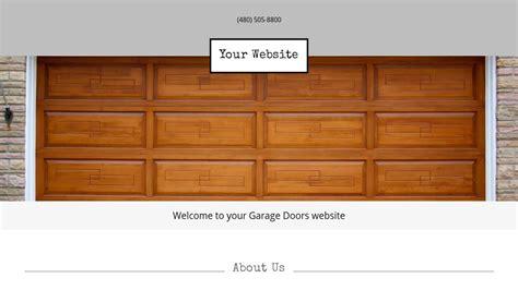 Garage Door Website Template by Exle 14 Garage Doors Website Template Godaddy