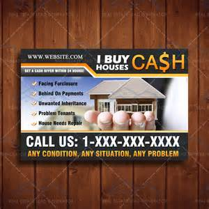 i buy houses postcard real estate lead generator