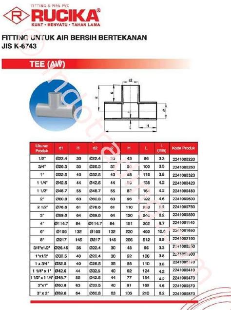 D Rucika 6 X 4 Inch Sambungan Pipa Air jual pipa pvc murah di kategori pipa plastik di surabaya