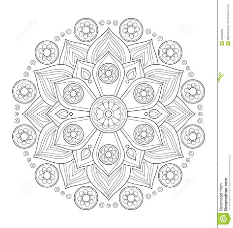 z coloring book for and adults 40 illustrations books decorative mandala illustration stock vector image 69503305
