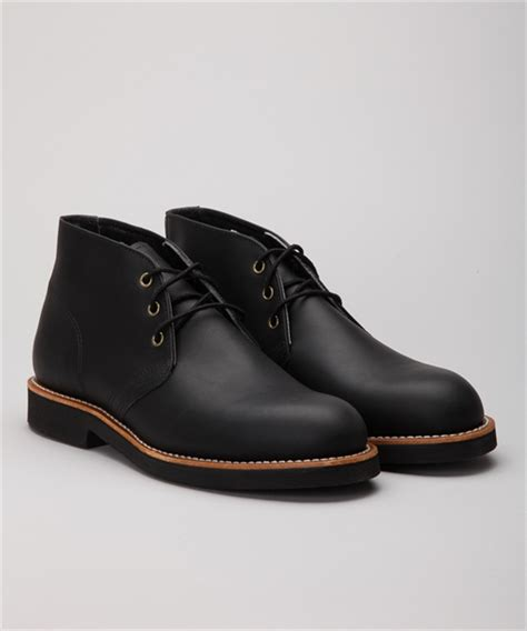 Wing 9216 Black wing shoes foreman chukka 9216 black harness skor