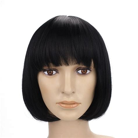 Hairstyle Wigs With Bangs by Human Hair Bob Wig With Bangs Hairturners