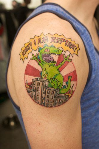reptar tattoo badass reptar tattoos