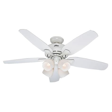 Hunter Channing 52 In Indoor White Ceiling Fan With Light Ceiling Fan Light Kit White