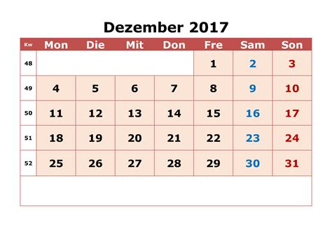 dezember  kalender   calendar printable  holidays list