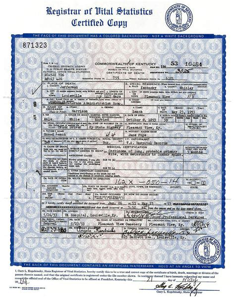 Kentucky Vital Records Birth Certificate Maryland State Birth Certificate Choice Image Birth Certificate Design