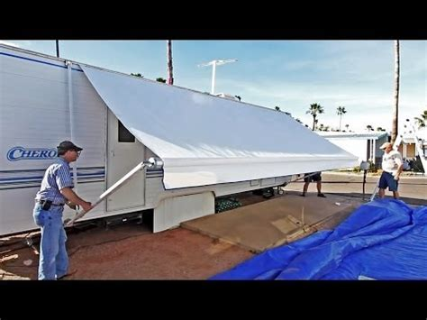 install rv awning yourself how to install an rv window awning a e dometic how