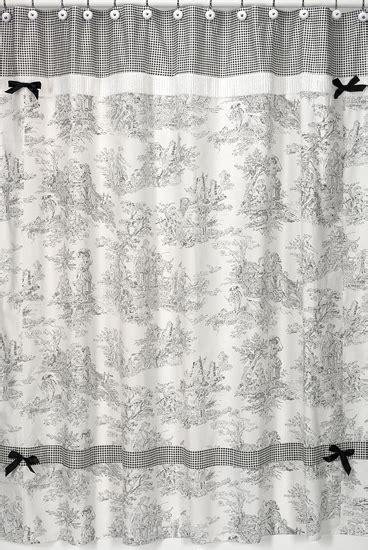 black toile shower curtain jojo designs black cream french toile chenille fabric
