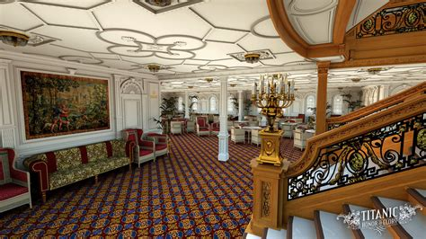 titanic first class titanic s first class reception room by