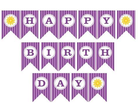 printable rapunzel birthday decorations rapunzel birthday printable quot happy birthday quot banner