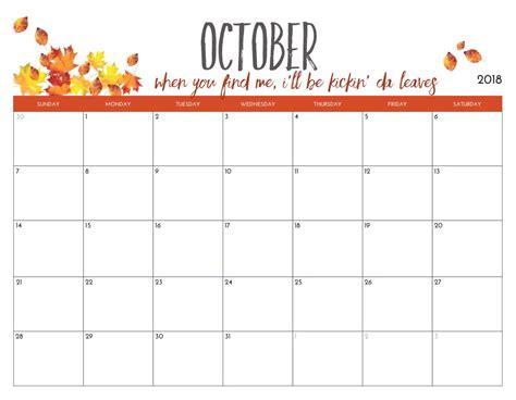 october 2018 calendar template october 2018 calendar free printable