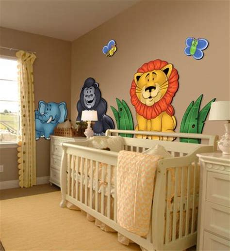 Jungle Wall Decor For Nursery Large 3d Wall Stickers For Nursery Or Room Jungle Animals Zoo Colorful Removable