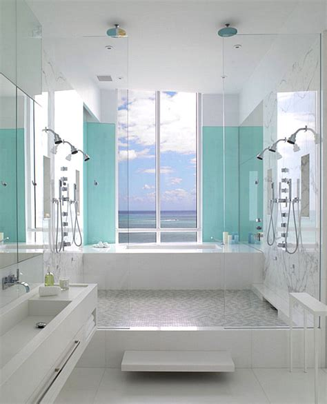 summer bathroom decor aqua blue in the powder room decoist