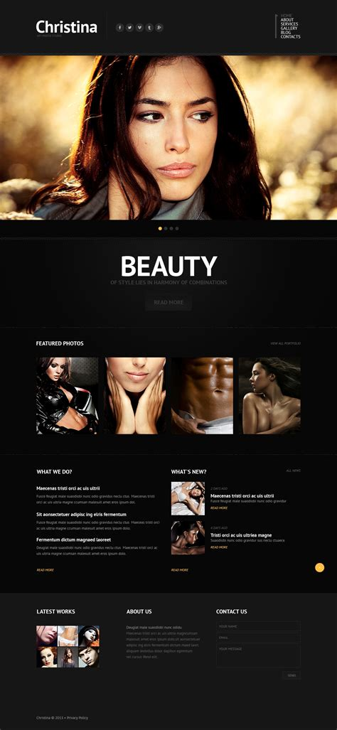 Solid Photographer Portfolio Wix Website Template 46261 Wix Portfolio Templates