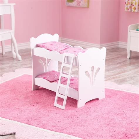 Kidkraft Bunk Bed Lil Doll Bunk Bed With Bedding Accommodates American 174 Dolls Kidkraft 60130