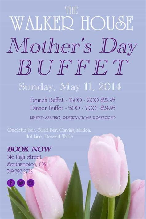 Come With Me Mothers Day Menu Part 3 by S Day Buffet Walker House