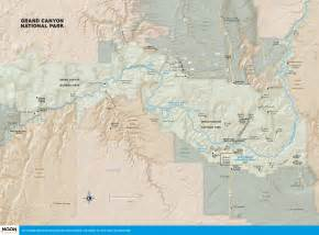 arizona map with grand travel map of grand national park