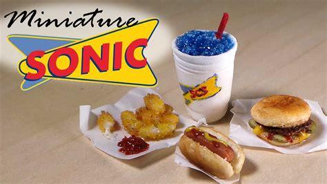 sonic food miniature sonic drive in inspired polymer clay tutorial