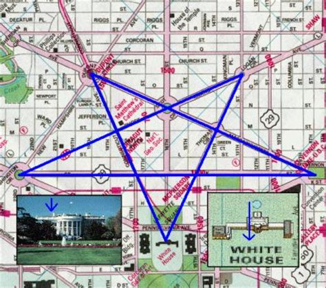 washington dc map masonic illuminati conspiracy
