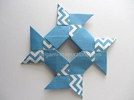 Origami 8 Pointed - origami 8 pointed hollow folding