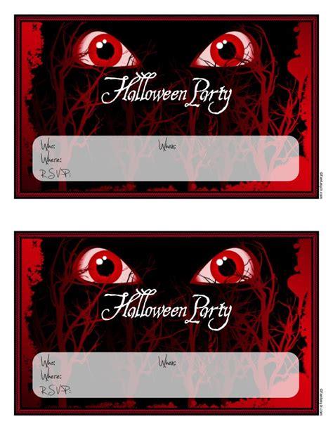 scary monster eyes halloween party invitations  print woo jr kids activities
