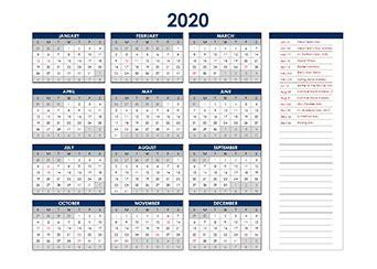 printable  canadian calendar templates  statutory