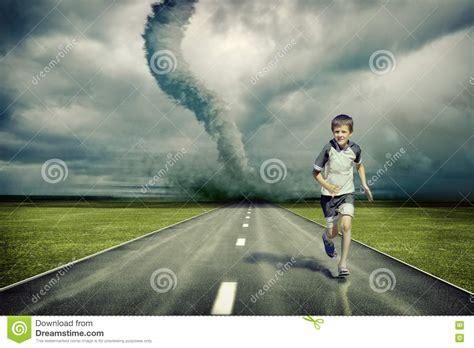 tornado boys tornado and running boy stock image image 16143141