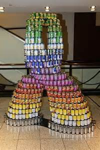 Canned Food Sculpture Ideas 2011 canstruction 174 atlanta structure can sculpture ideas