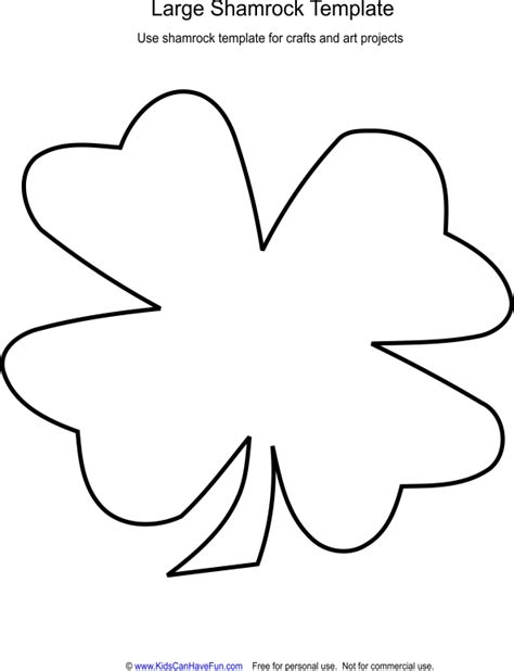 shamrock template free colouring pages