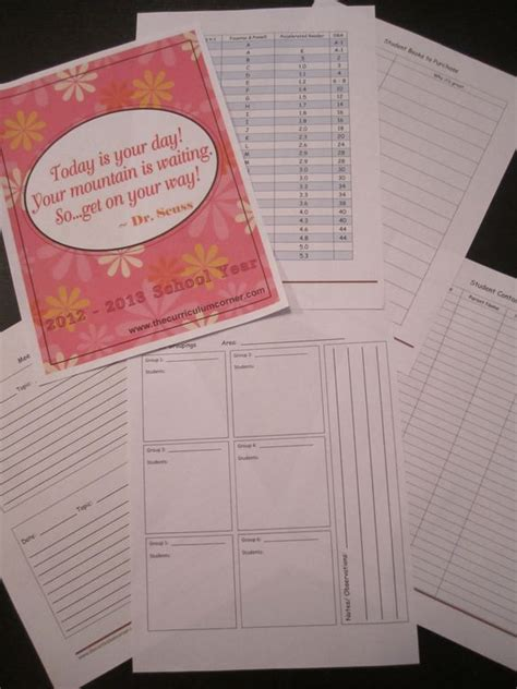 printable lesson plan binder teacher planning binder teaching student information