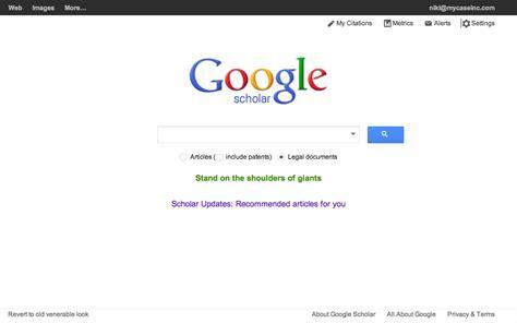 google scholar  conduct  legal research