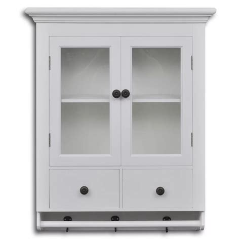 vidaxl co uk white wooden kitchen wall cabinet with