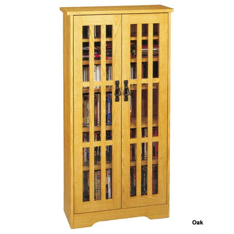 Leslie Dame Cd Storage Cabinet With Glass Doors Oak Cd Storage Cabinets With Glass Doors