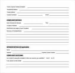 sample customer complaint form examples 7 free