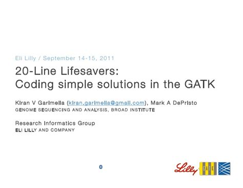 coding solutions 20 line lifesavers coding simple solutions in the gatk
