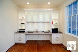 Craft Kitchen Cabinets traditional white painted maple built in desk northville mi