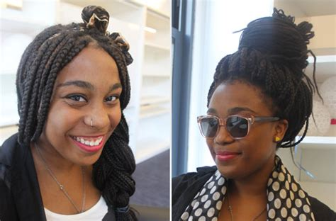 pics of styles you cab wear with braids with thinning edges how to style box braids popsugar beauty