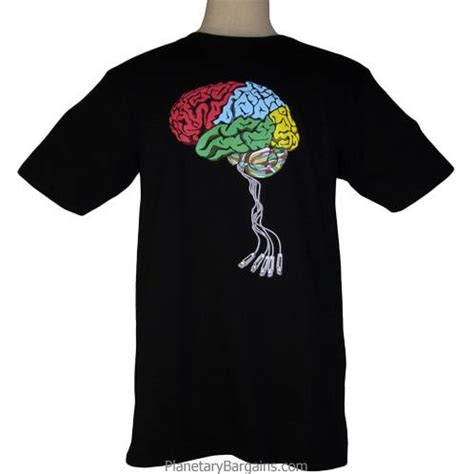 Tees Oh Go Buy A Brain usb brain jacked in shirt computer brain t shirts to buy brain usb shirt