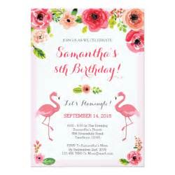 luau birthday invitation flamingo birthday invite zazzle