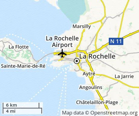 map of la rochelle cheap flights to la rochelle euroflights info